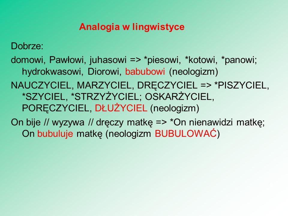 Temat 3 Struktura języka I: słownik morfologia. 10