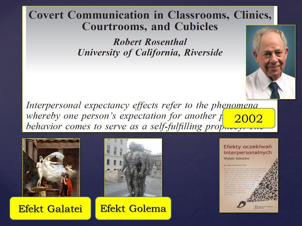 Efekt Galatei Efekt Golema 2002