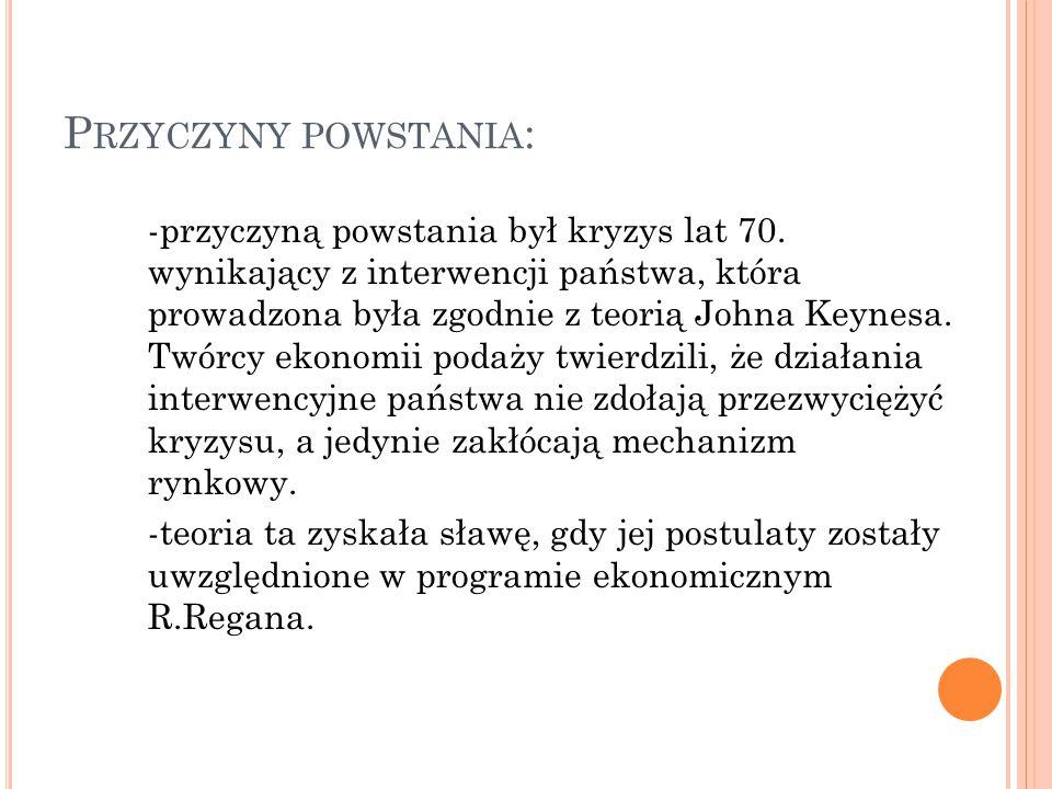 P RZYCZYNY POWSTANIA : -przyczyną powstania był kryzys lat 70.