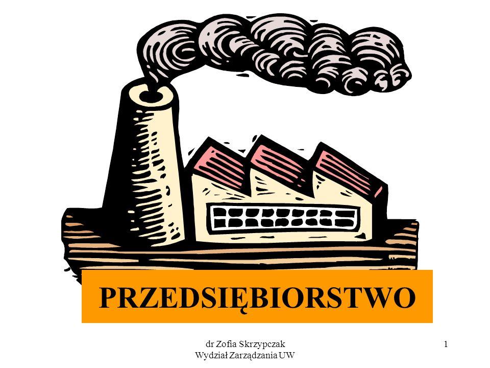 dr Zofia Skrzypczak Wydział Zarządzania UW 1 PRZEDSIĘBIORSTWO