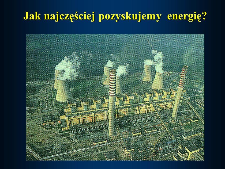 Jak najczęściej pozyskujemy energię