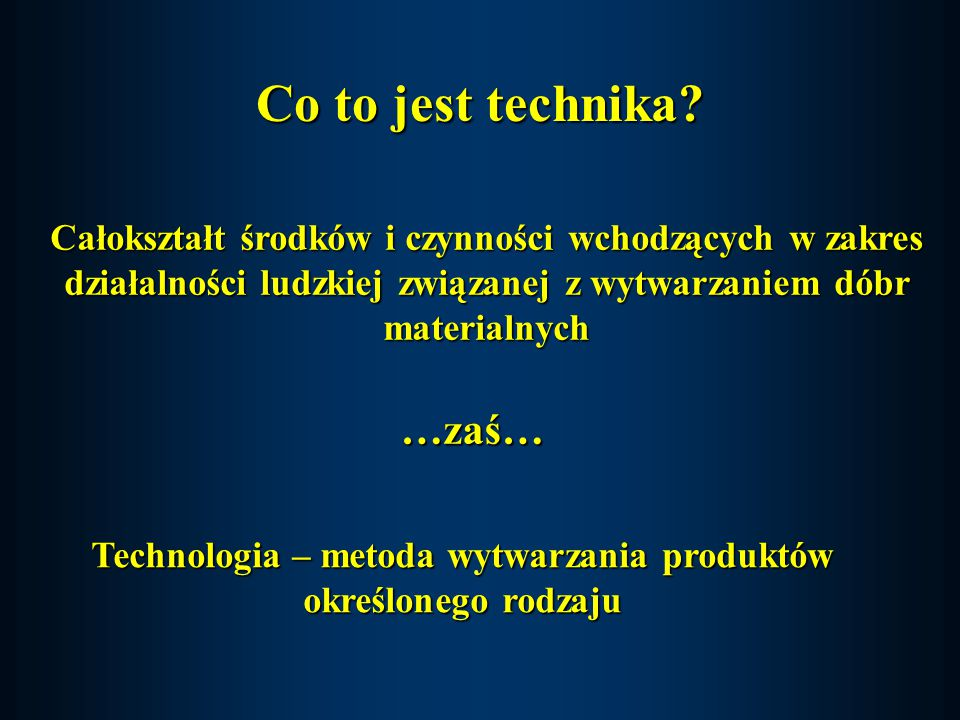 Co to jest technika.