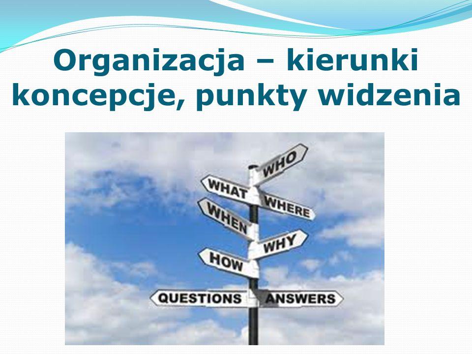 Organizacja – kierunki koncepcje, punkty widzenia