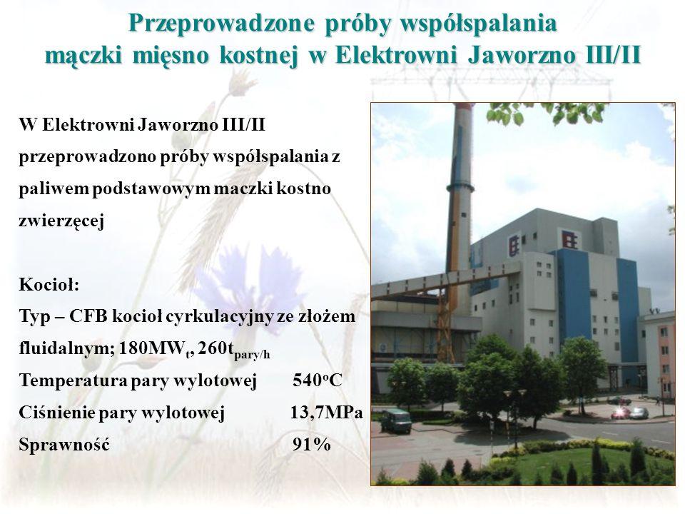 Przeprowadzone próby współspalania mączki mięsno kostnej w Elektrowni Jaworzno III/II W Elektrowni Jaworzno III/II przeprowadzono próby współspalania