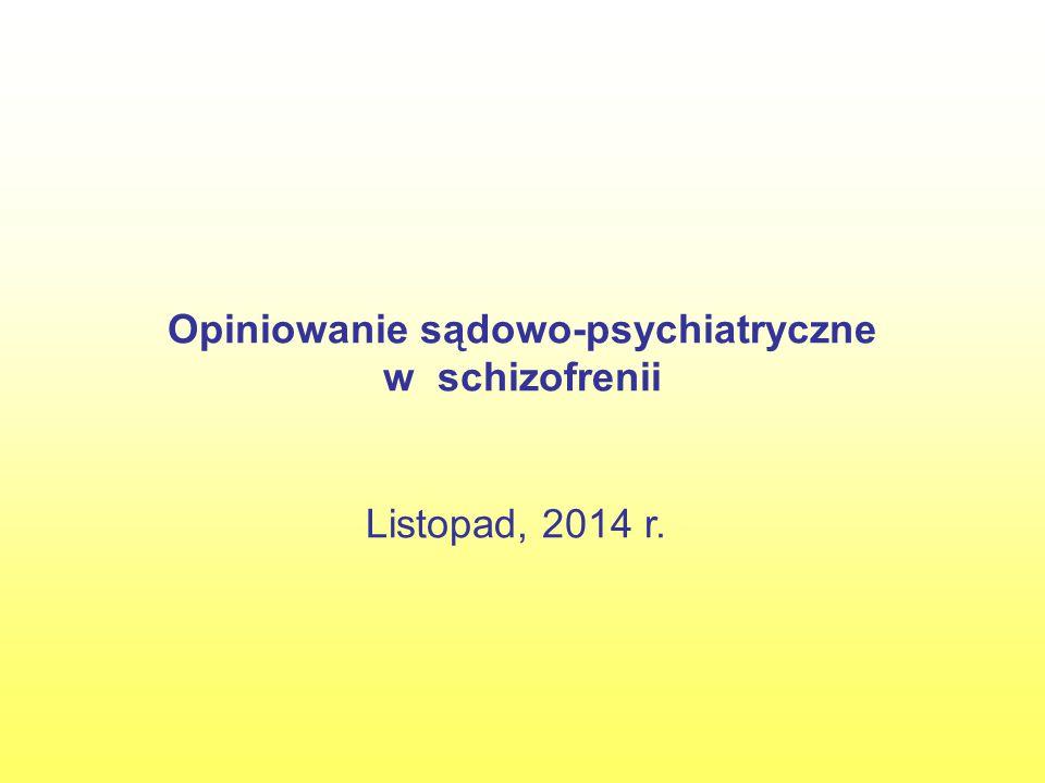 Wnioski U podejrzanego nie rozpoznajemy upośledzenia umysłowego, natomiast w chwili popełniania zarzucanego czynu cierpiał na chorobę psychiczną – schizofrenię paranoidalną.