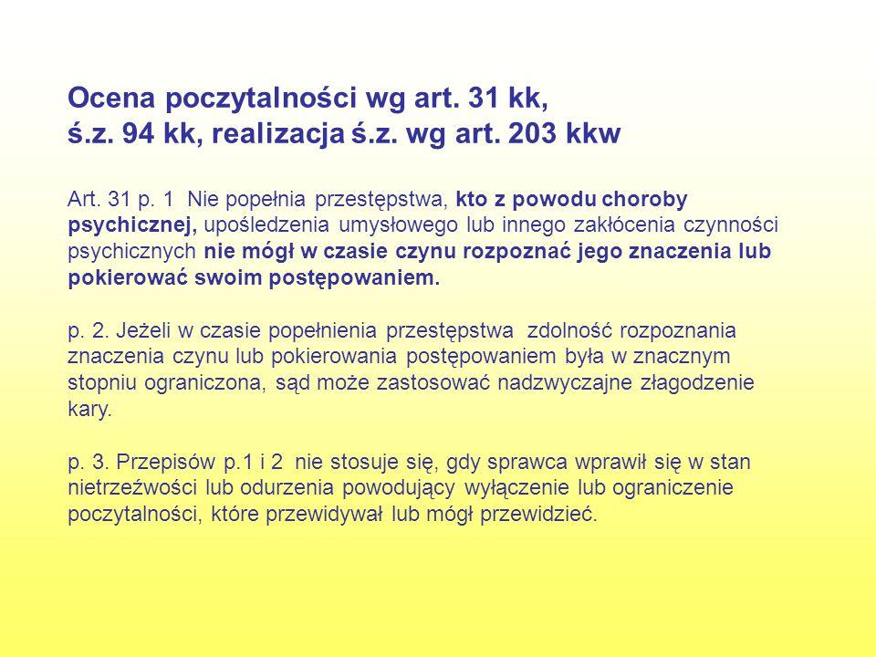 Opinia ambulatoryjna sądowo-psychiatryczna K.334, czy oskarżony p.