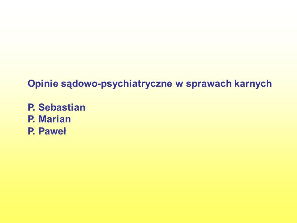 Wnioski Opiniowany w okresie zarzucanego czynu nie przejawiał choroby psychicznej ani innego zakłócenia czynności psychicznych.