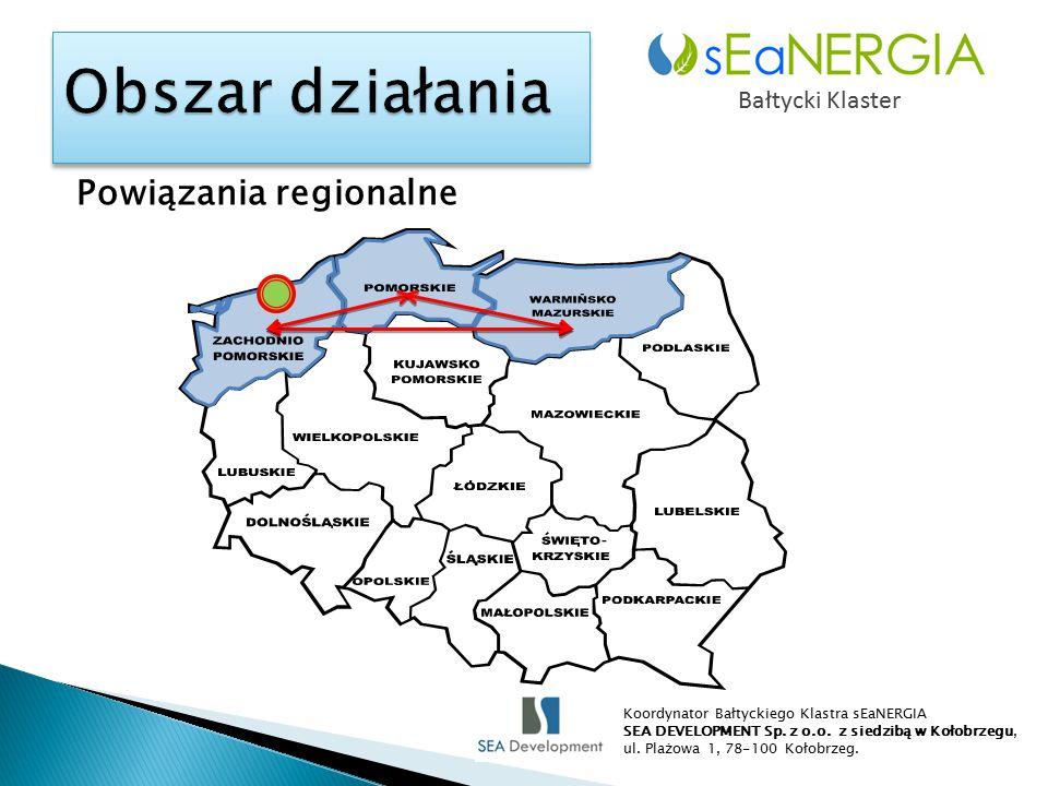 Powiązania regionalne Bałtycki Klaster Koordynator Bałtyckiego Klastra sEaNERGIA SEA DEVELOPMENT Sp.