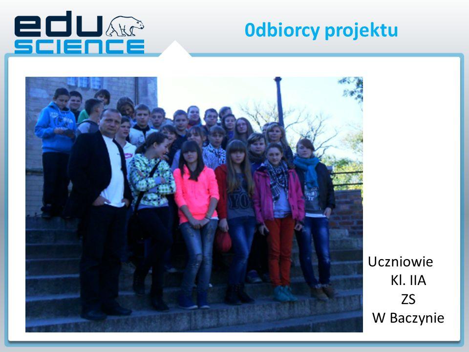 0dbiorcy projektu Uczniowie Kl. IIA ZS W Baczynie