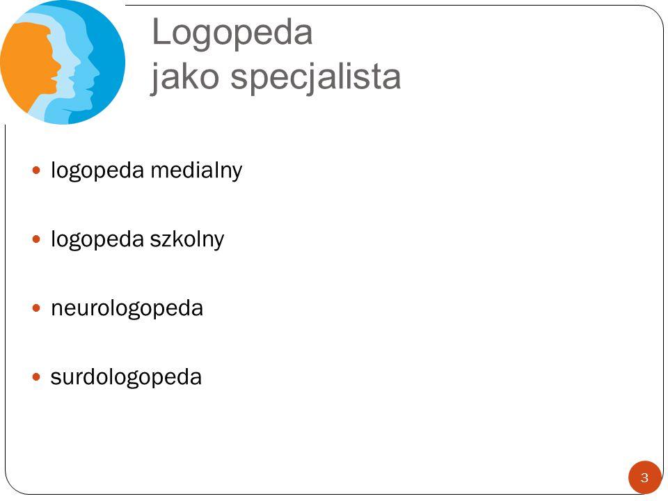 Logopeda jako specjalista logopeda medialny logopeda szkolny neurologopeda surdologopeda 3