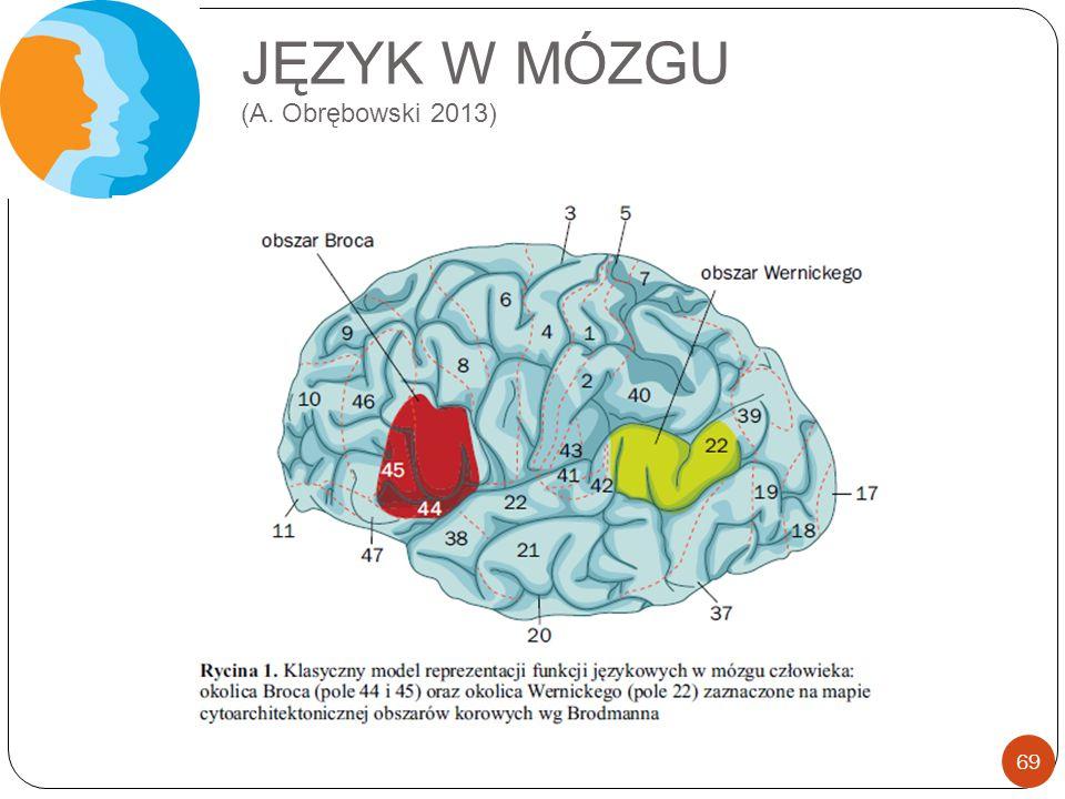 JĘZYK W MÓZGU (A. Obrębowski 2013) 69
