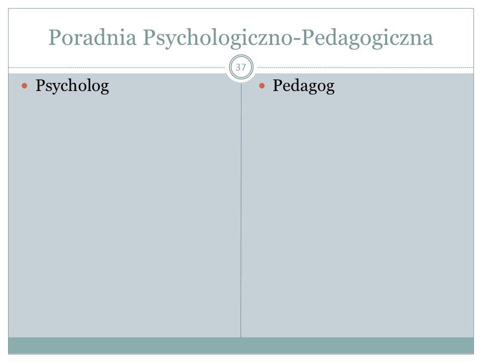Poradnia Psychologiczno-Pedagogiczna 37 Psycholog Pedagog
