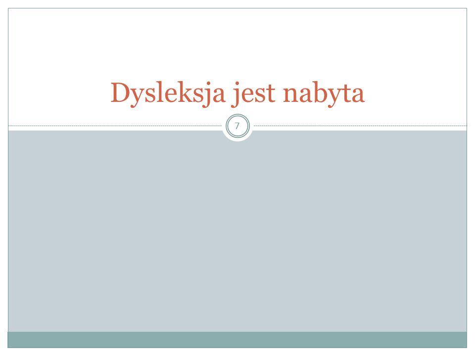 38 Kiedyś nie było dysleksji…