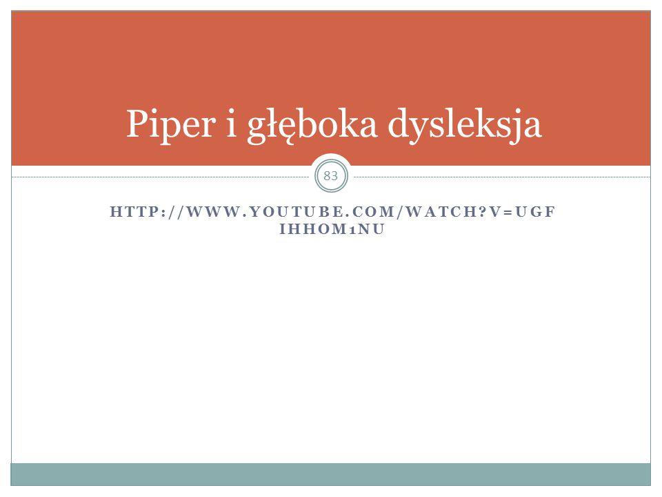 HTTP://WWW.YOUTUBE.COM/WATCH?V=UGF IHHOM1NU 83 Piper i głęboka dysleksja