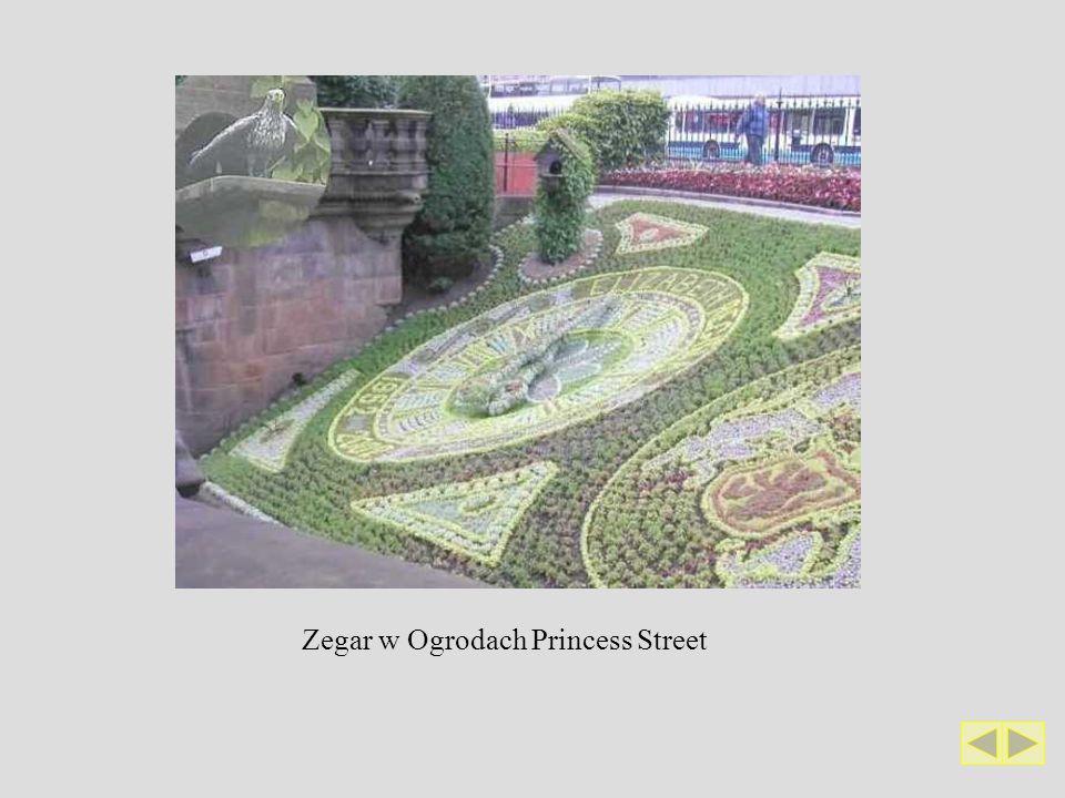 Zegar w Ogrodach Princess Street