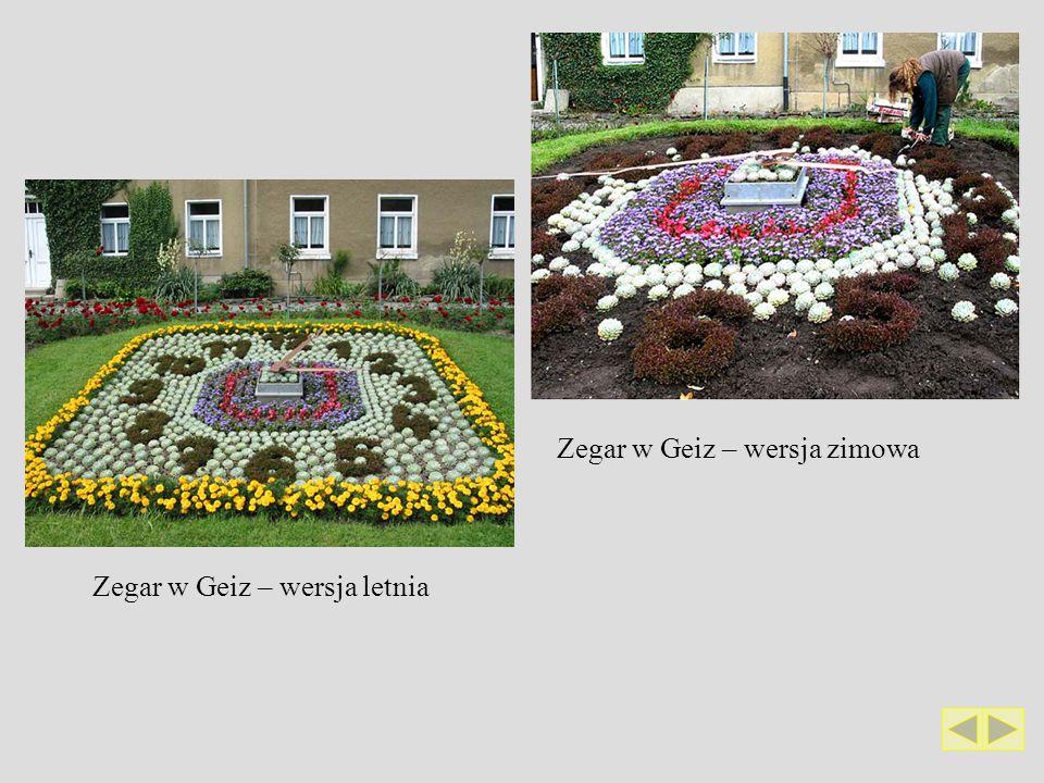 Zegar w Geiz – wersja letnia Zegar w Geiz – wersja zimowa