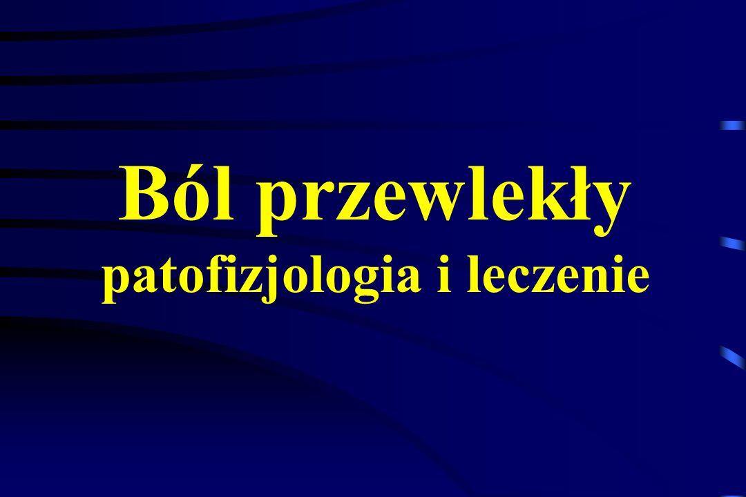 Bisfosfoniany i Kalcytonina w leczeniu bólu nowotworowego Ból kostny (przerzuty do kości) – czynniki chemiczne i mechaniczne Resorpcja osteoklastyczna  osteoporoza  złamania patologiczne Bisfosfoniany i kalcytonina łączą elementy leczenia przyczynowego i objawowego, zmniejszają resorpcję kości Bisfosfonian - Klodronian (Bonefos) dawki 2 x 800 mg doustnie Pamidronian (Aredia) dożylnie - powolny wlew Kalcytonina - 100 j domięśniowo lub donosowo 1 x /24 godz.