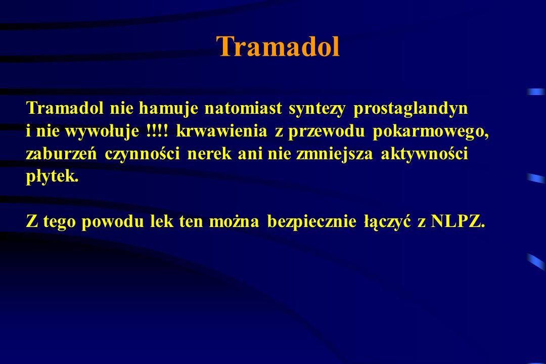 Tramadol Tramadol wymaga modyfikacji dawki w przypadku: niewydolności wątroby niewydolności nerek Tramadol w populacji osób zdrowych poniżej 75 lat ni