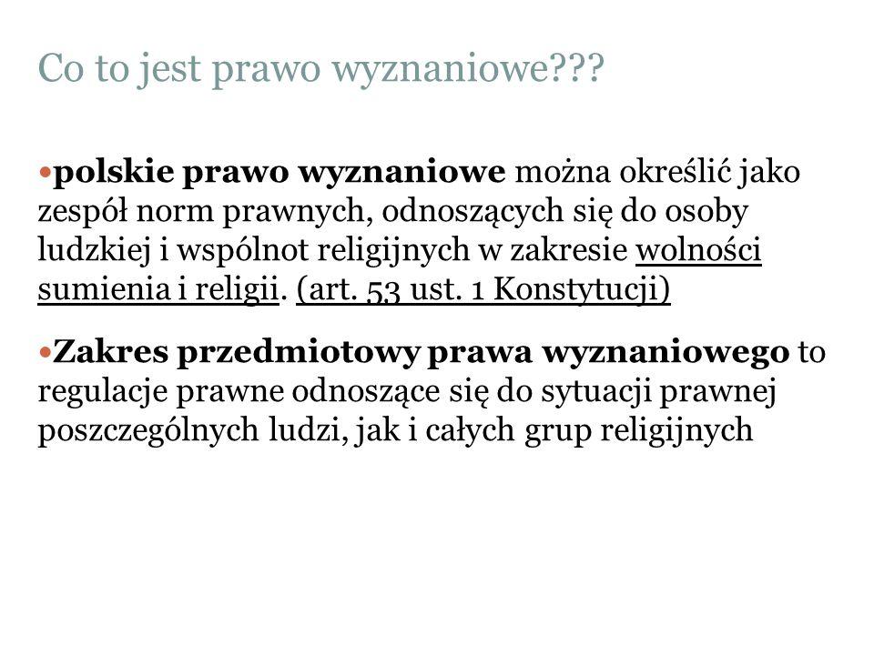 Co to jest prawo wyznaniowe??? polskie prawo wyznaniowe można określić jako zespół norm prawnych, odnoszących się do osoby ludzkiej i wspólnot religij