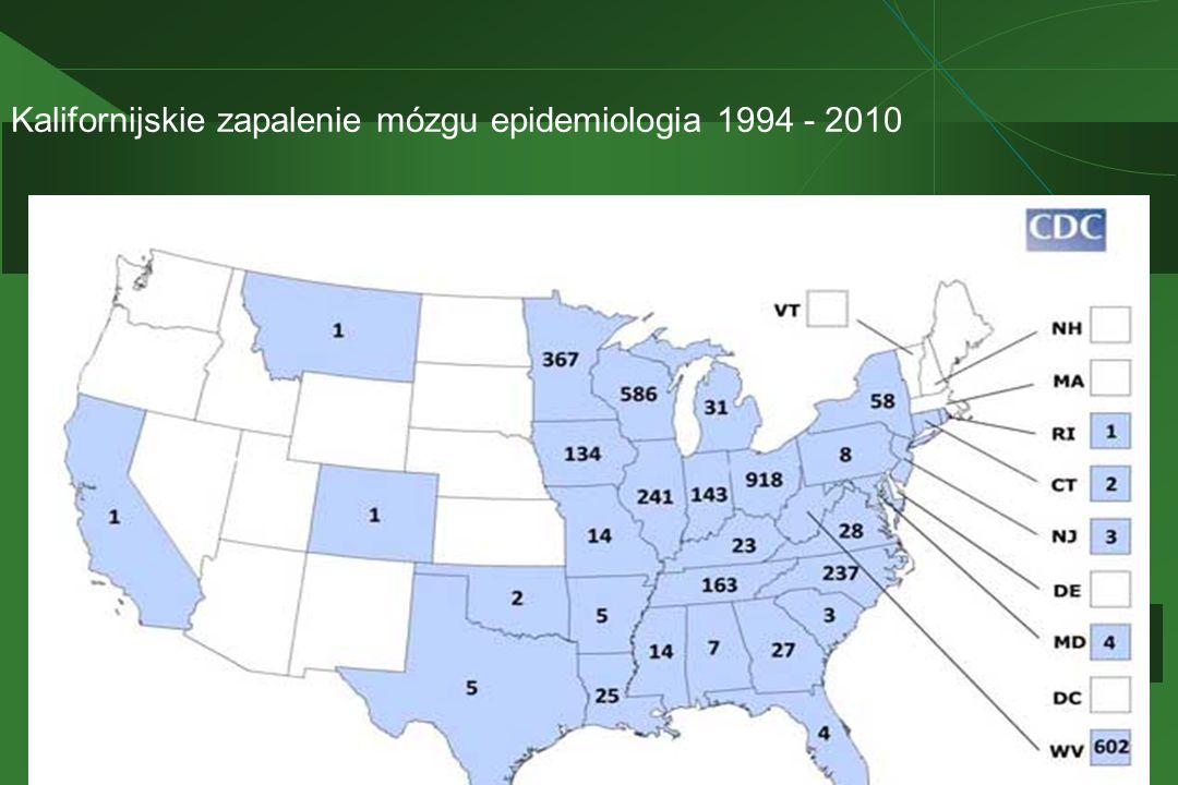 Kalifornijskie zapalenie mózgu epidemiologia 1994 - 2010