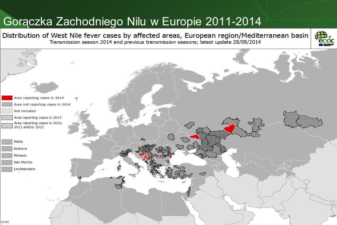 Gorączka Zachodniego Nilu w Europie 2011-2014