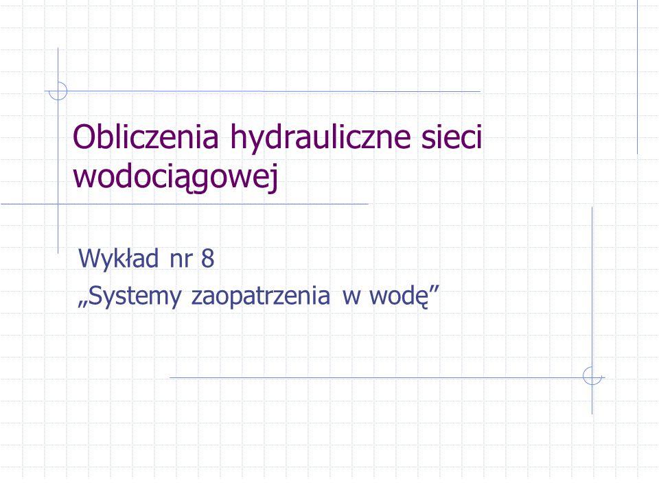Tok projektowania sieci wodociągowej 1.