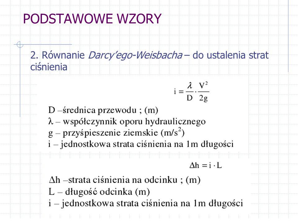 Z równania (1) oraz (2) wynika: podstawiając: oporność właściwa przewodu Problem – jak wyznaczyć współczynnik λ?