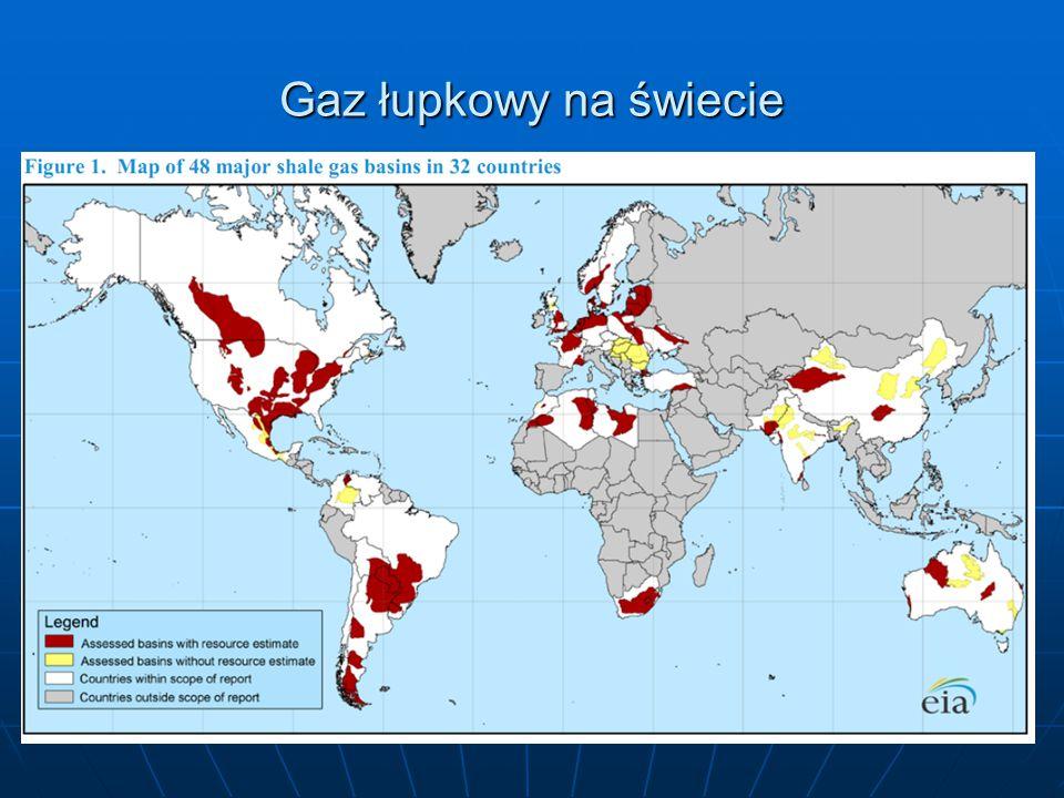 Gaz łupkowy na świecie