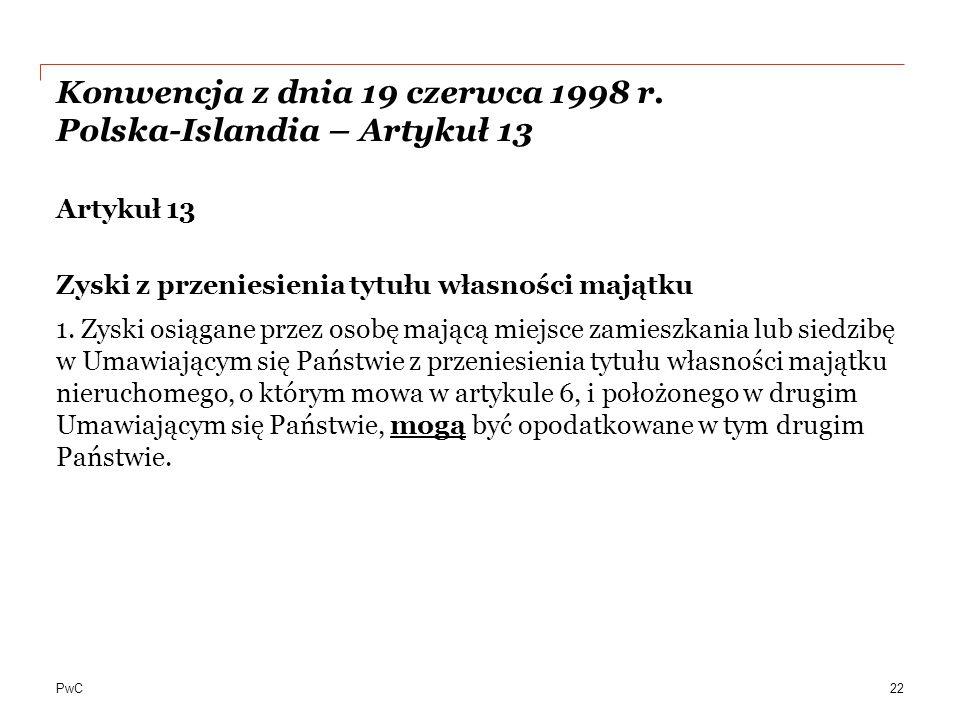 PwC Konwencja z dnia 19 czerwca 1998 r.
