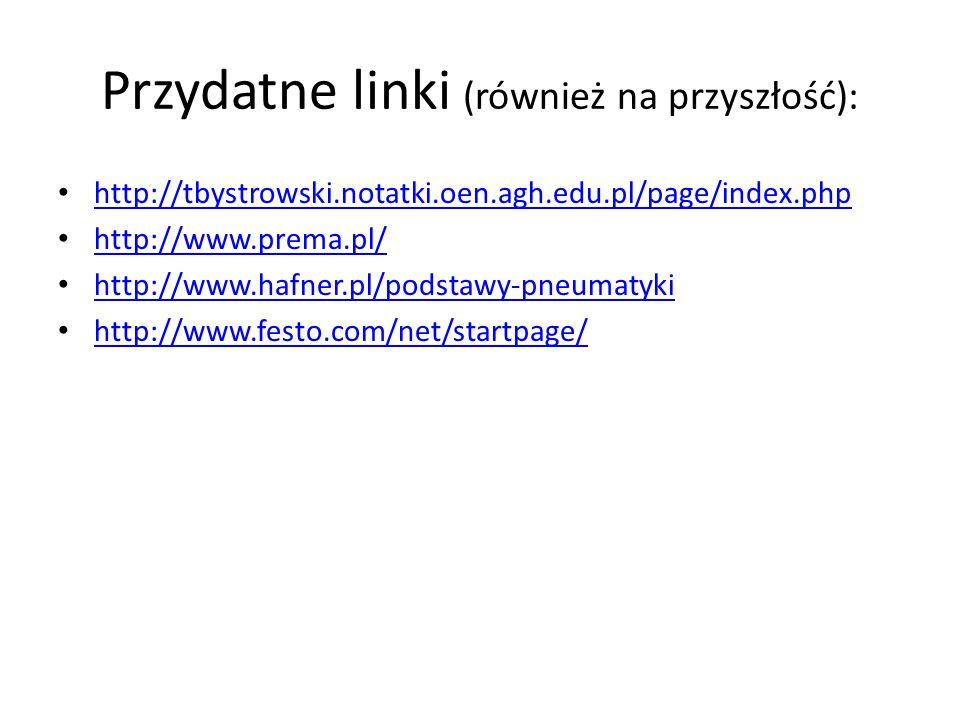 Przydatne linki (również na przyszłość): http://tbystrowski.notatki.oen.agh.edu.pl/page/index.php http://www.prema.pl/ http://www.hafner.pl/podstawy-p