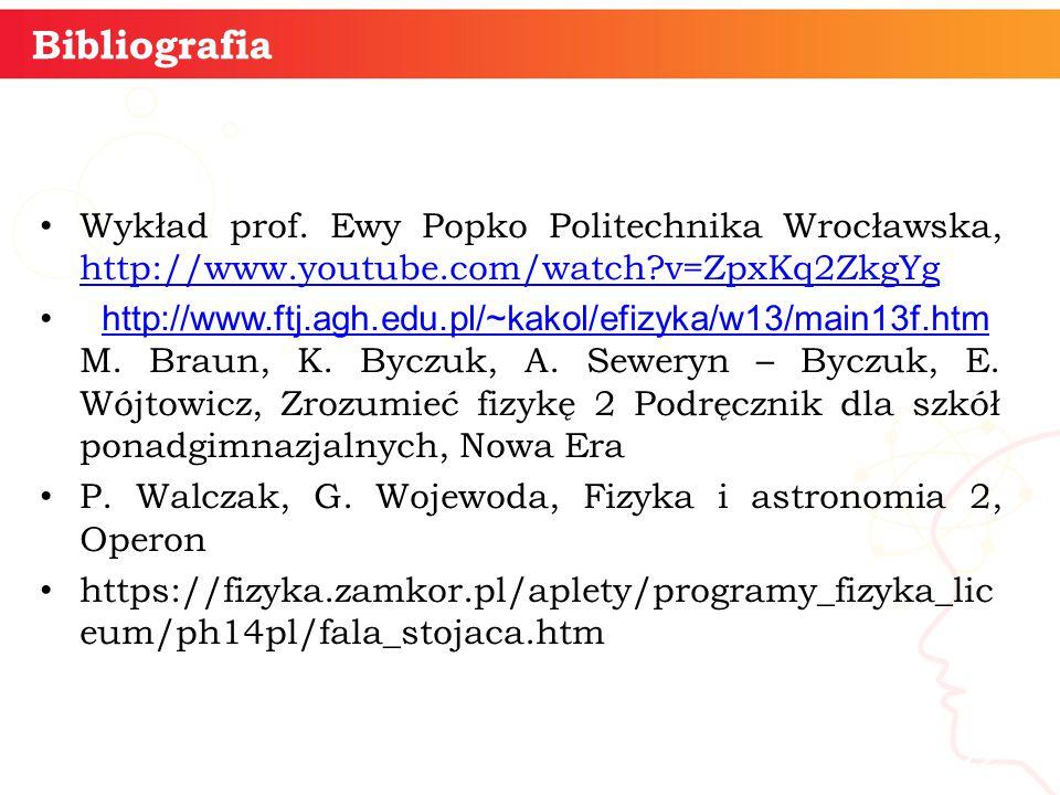 Wykład prof. Ewy Popko Politechnika Wrocławska, http://www.youtube.com/watch?v=ZpxKq2ZkgYg http://www.youtube.com/watch?v=ZpxKq2ZkgYg http://www.ftj.a