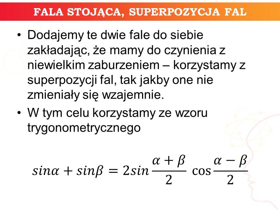 FALA STOJĄCA, SUPERPOZYCJA FAL informatyka + 6