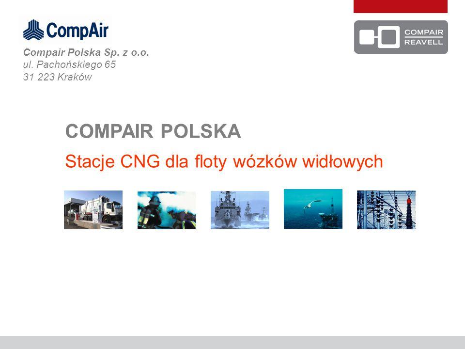 Firma CompAir Polska jest czołowym dostawcą kompletnych stacji tankowania gazem ziemnym CNG w Polsce.