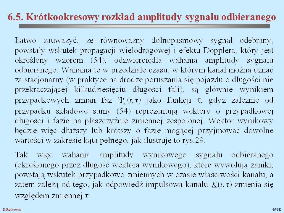 D.Rutkowski65/SK 6.5. Krótkookresowy rozkład amplitudy sygnału odbieranego