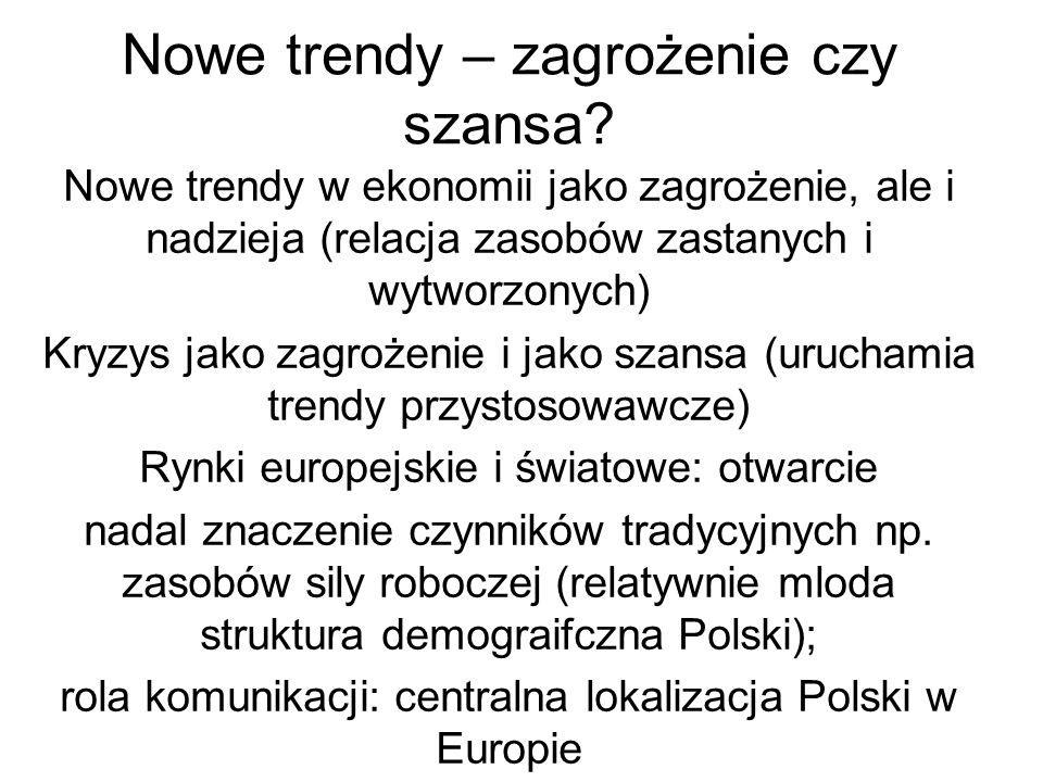 Nowe trendy – zagrożenie czy szansa.