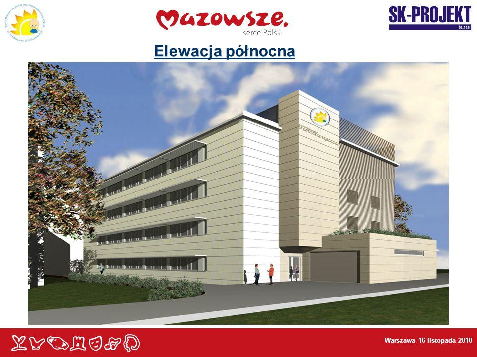 Warszawa 16 listopada 2010 Elewacja północna
