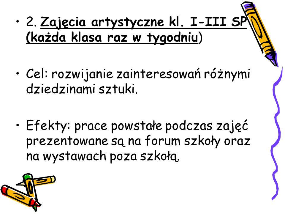 2. Zajęcia artystyczne kl.