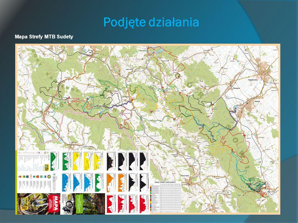 Podjęte działania Mapa Strefy MTB Sudety