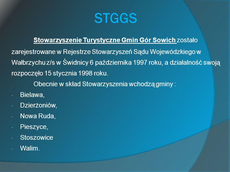 STGGS Stowarzyszenie Turystyczne Gmin Gór Sowich zostało zarejestrowane w Rejestrze Stowarzyszeń Sądu Wojewódzkiego w Wałbrzychu z/s w Świdnicy 6 paźd