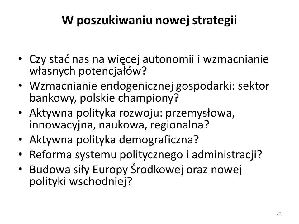 W poszukiwaniu nowej strategii Czy stać nas na więcej autonomii i wzmacnianie własnych potencjałów.
