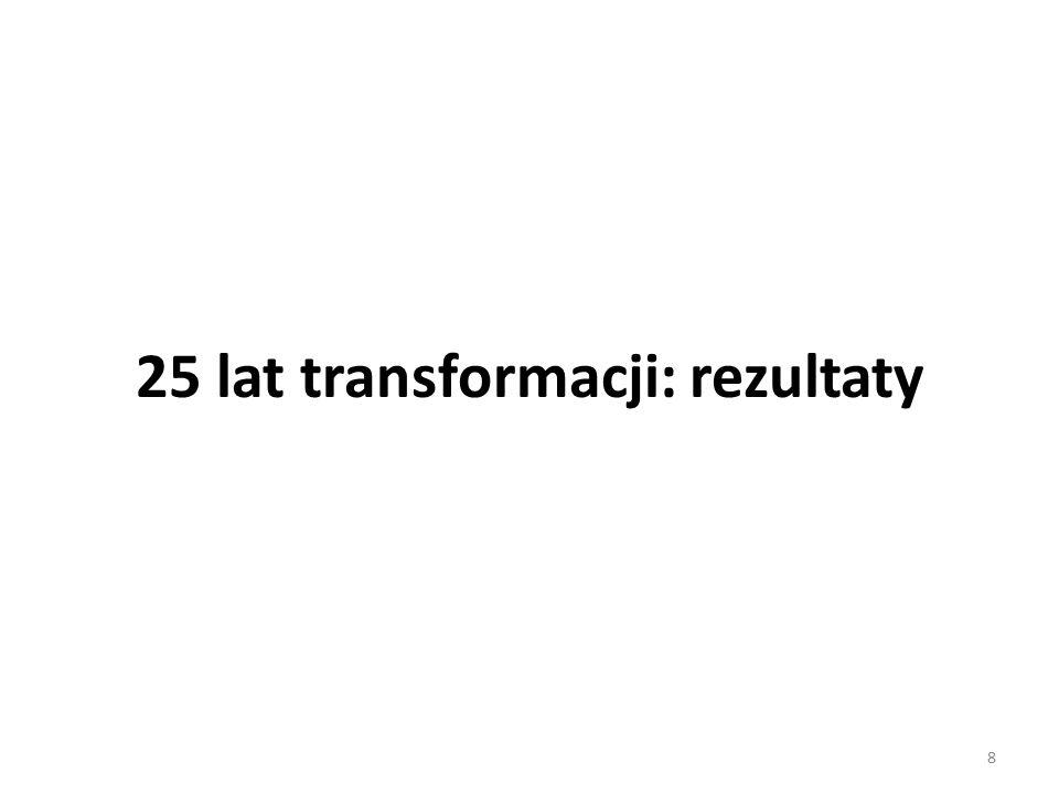 Scenariusz pesymistyczny Wedlug scenriusza pesymistycznego, do 2020 roku Polska będzie miała ciągle dosyć imponujący 4 procentowy przeciętny wzrost dochodu na mieszkańca rocznie, aby jednak – według tej prognozy - spowolnic do 2 procent w latach 2020-40, i ponownie spowolnić do 1 procenta w latach 2040-60.