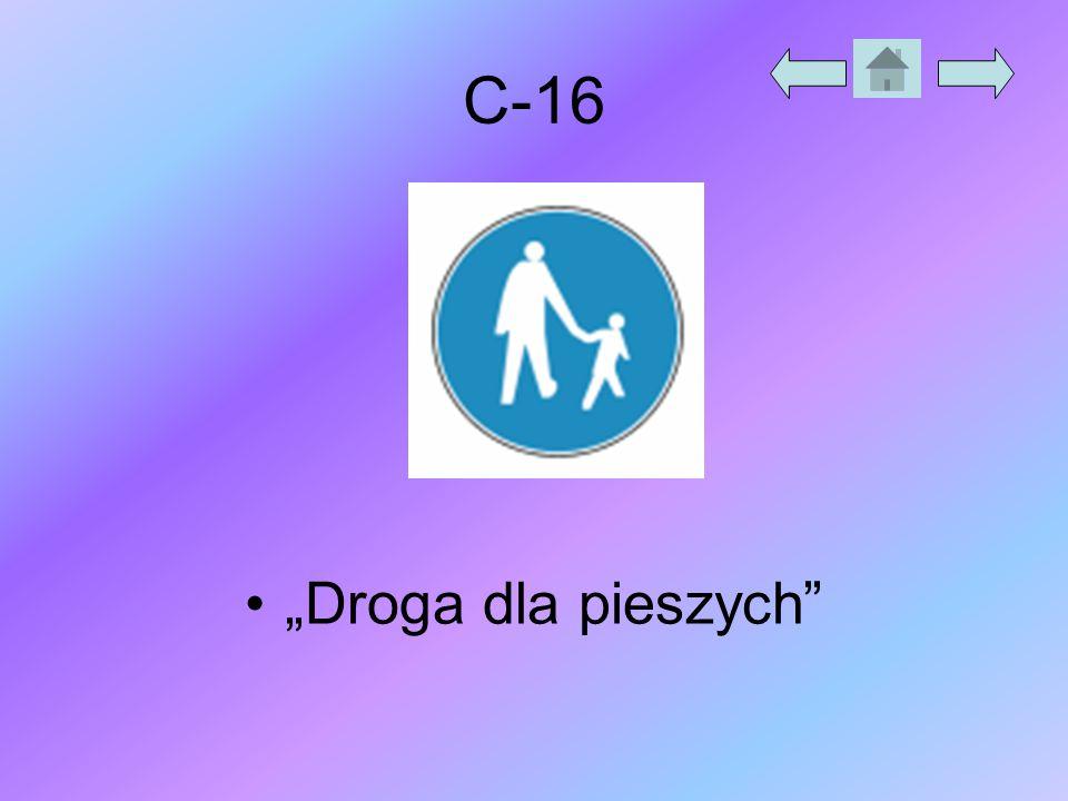 """C-16 """"Droga dla pieszych"""""""