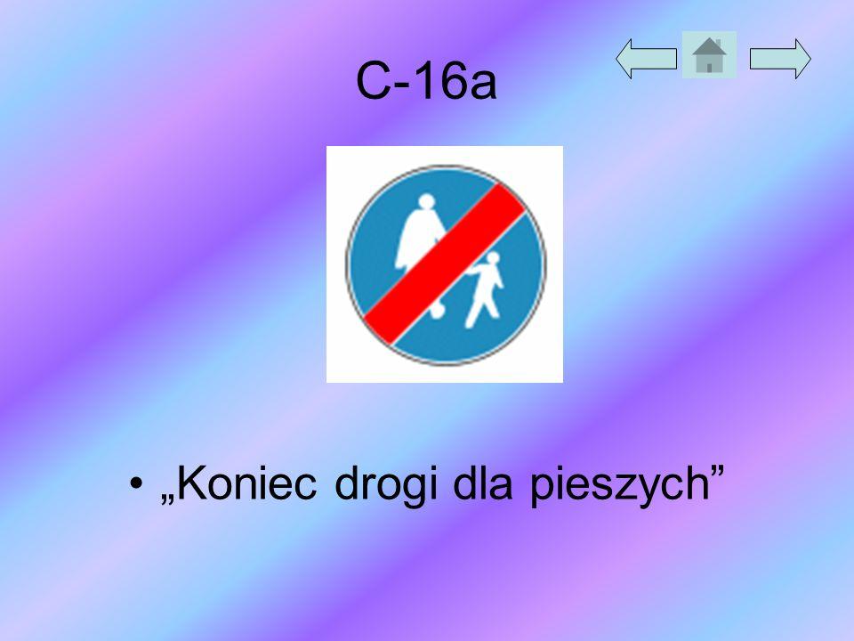 """C-16a """"Koniec drogi dla pieszych"""""""