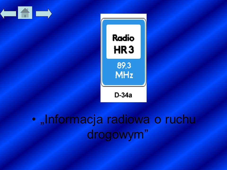"""""""Informacja radiowa o ruchu drogowym"""""""
