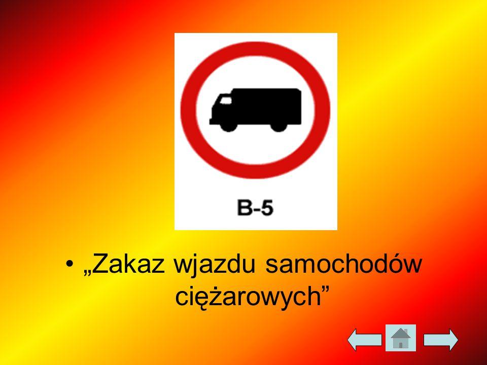 """""""Zakaz wjazdu samochodów ciężarowych"""""""