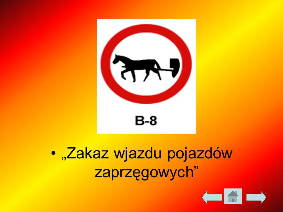 """""""Zakaz wjazdu pojazdów zaprzęgowych"""""""