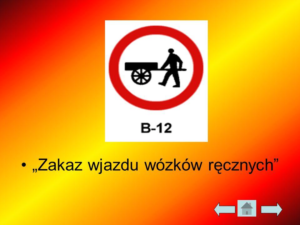 """""""Zakaz wjazdu wózków ręcznych"""""""