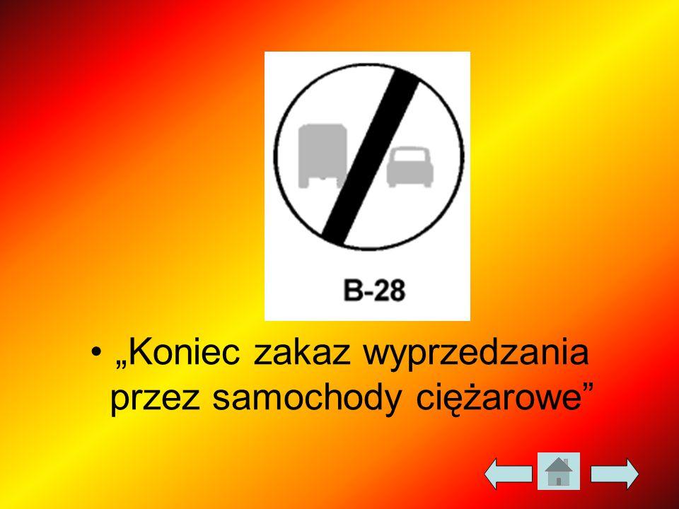 """""""Koniec zakaz wyprzedzania przez samochody ciężarowe"""""""