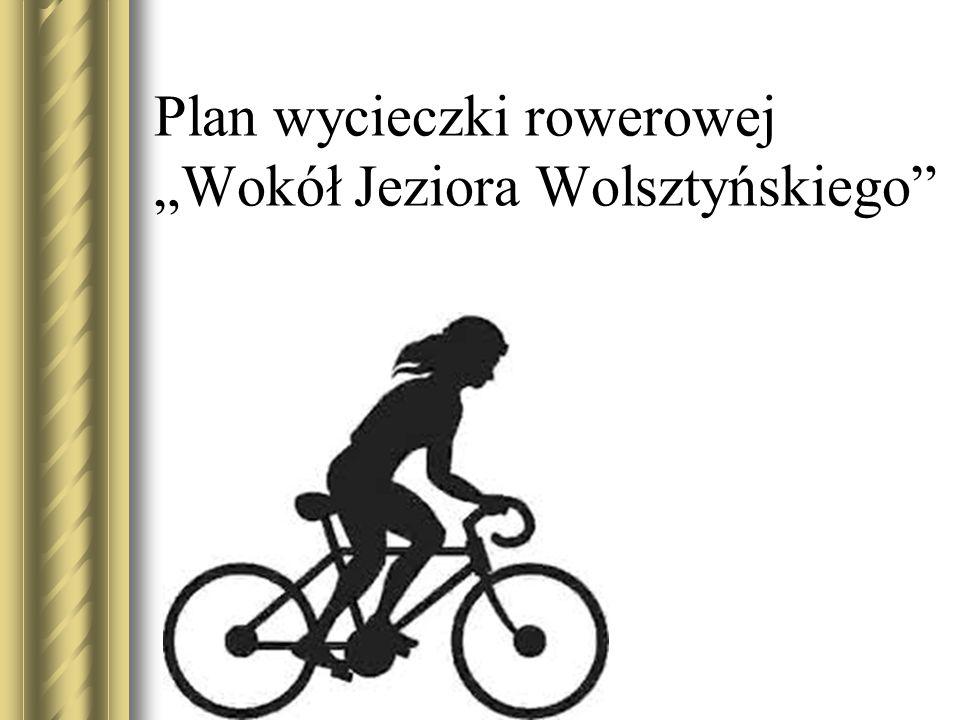 """Plan wycieczki rowerowej """"Wokół Jeziora Wolsztyńskiego"""