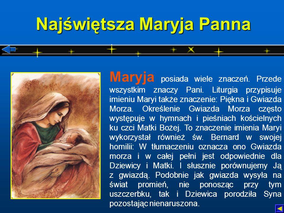 Najświętsza Maryja Panna Maryja posiada wiele znaczeń.
